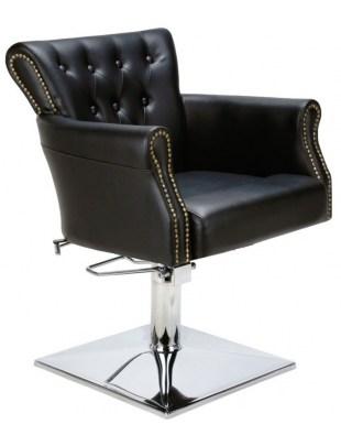 LOUIS - Fotel fryzjerski czarny