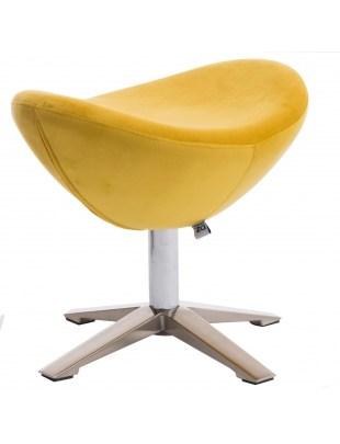 Podnóżek Jajo Velvet żółty