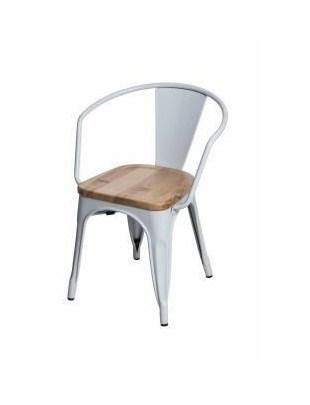 Krzesło Paris Arms Wood białe jesion