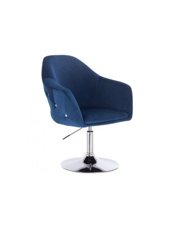 Eduardo - krzesło kosmetyczne tapicerowane ciemne morze WYBÓR PODSTAW