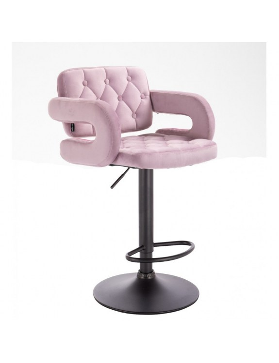 SURF - Hoker regulowany krzesło tapicerowane wrzosowy welur WYBÓR PODSTAW