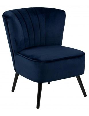 Fotel Lark VIC ciemny niebieski