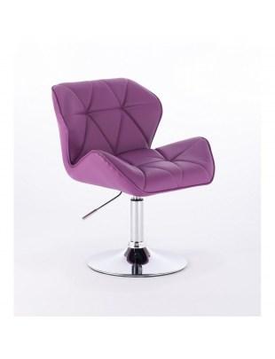 PETYR UNO - Krzesło z oparciem fioletowe regulowane
