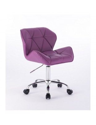 PETYR UNO - Krzesło na kółkach fioletowe