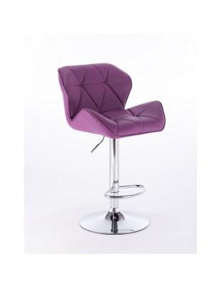 PETYR UNO - Hoker fryzjerski fioletowy z podnóżkikem