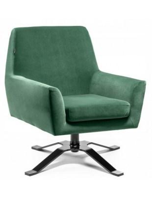 Fotel welurowy BONDO butelkowa zieleń - poczekalnia gabinet OUTLET