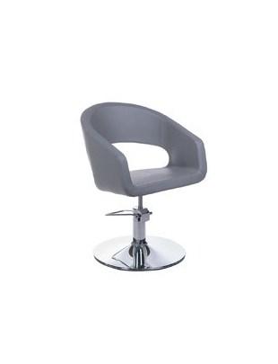 Fotel fryzjerski Paolo BH-8821 jasny szary