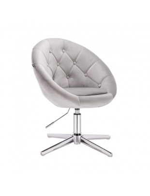 Blom - krzesło kosmetyczne stalowy welur