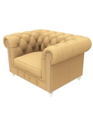 DUKE - Fotel z podłokietnikami do poczekalni w stylu chesterfield | PANDA
