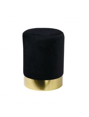 Pufa Delice Velvet M czarna