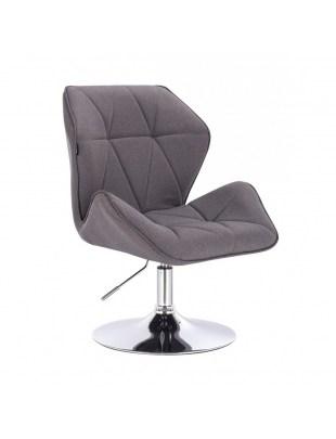 CRONO - Krzesło kosmetyczne tweedowy popiel WYBÓR PODSTAW