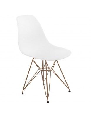 Krzesło P016 PP Gold białe