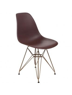 Krzesło P016 PP Gold brązowe