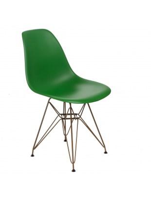 Krzesło P016 PP Gold ciemno zielone