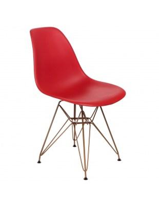 Krzesło P016 PP Gold czerwone