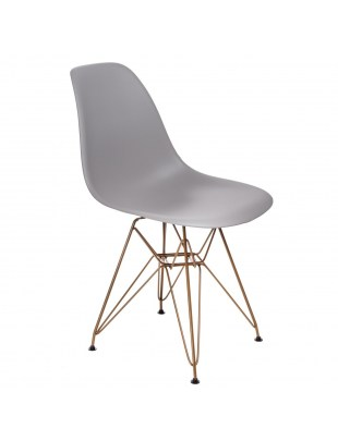 Krzesło P016 PP Gold dark grey