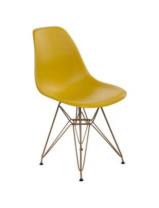 Krzesło P016 PP Gold dark olive