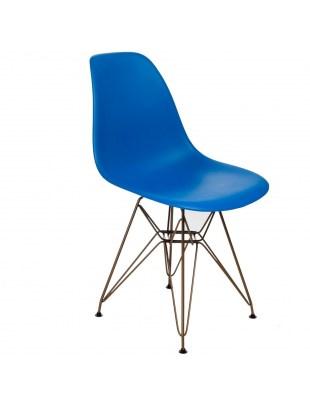 Krzesło P016 PP Gold niebieskie