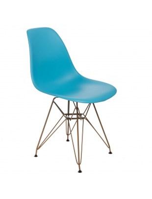 Krzesło P016 PP Gold ocean blue