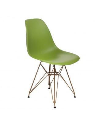 Krzesło P016 PP Gold zielone