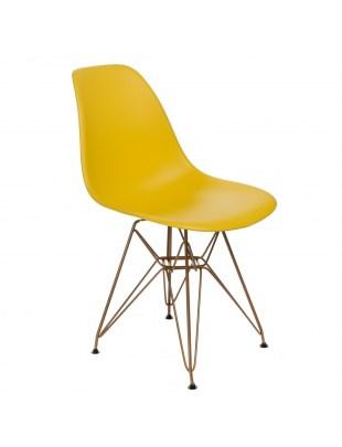Krzesło P016 PP Gold żółte