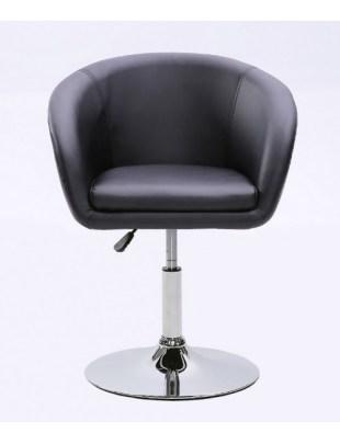 BART- Fotel fryzjerski czarny ekoskóra WYBÓR PODSTAW