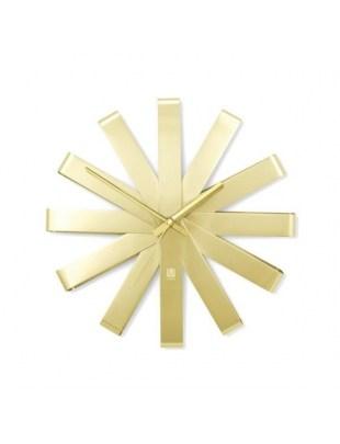 Zegar ścienny, złoty RIBBON