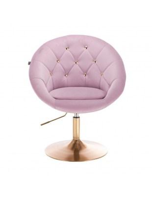 BLOM CRISTAL GOLD - Krzesło kosmetyczne wrzosowe welur