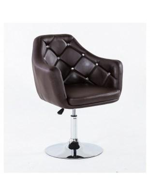 Blink - Fotel fryzjerski czekoladowy WYBÓR PODSTAW