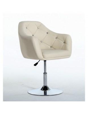 Blink - Fotel fryzjerski kremowy