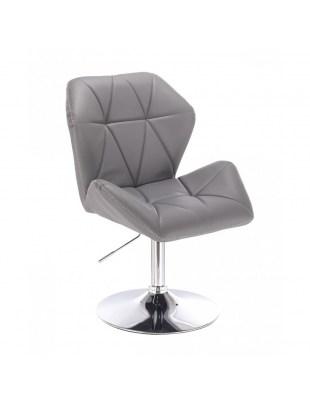 CRONO ZET - Szare krzesło kosmetyczne z oparciem