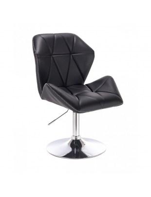 CRONO ZET - Czarne krzesło kosmetyczne z oparciem