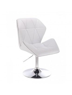CRONO ZET - Białe krzesło kosmetyczne z oparciem