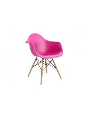Krzesło P018W PP dark pink, drewniane nogi HF Outlet