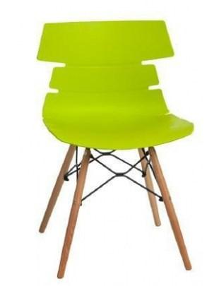 Krzesło Techno DSW PP zielone Outlet