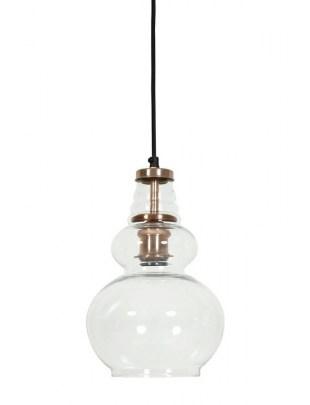 Lampa wisząca Cile miedź szkło