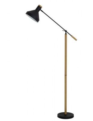 Lampa podłogowa Tiffin naturalny czarny