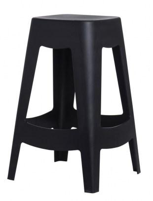 Stołek barowy Tower czarny Outlet