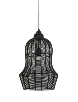 Lampa wisząca Meia matowa czarna 27x42