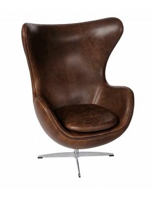 Fotel Jajo brązowy ciemny vintage Outlet Premium