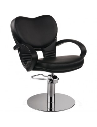 Fotel Fryzjerski Clio - baza dysk - tapicerka czarna - Ayala 48h