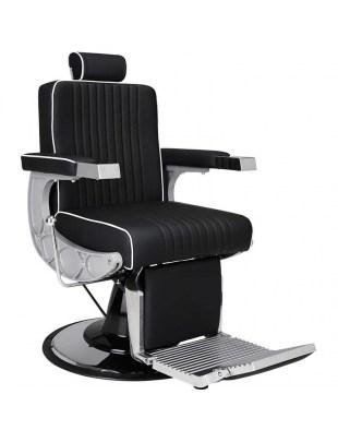 Czarny fotel Męski barberski Carlos - Ayala 48h