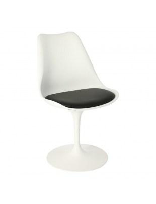 Krzesło Tulip Basic białe/czarna poduszk a