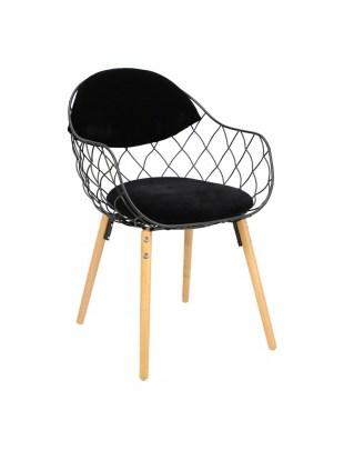 Krzesło Jahi czarne/czarne/naturalne