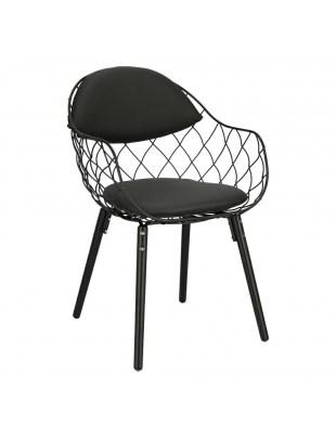 Krzesło Jahi czarnePU/czarne/czarne