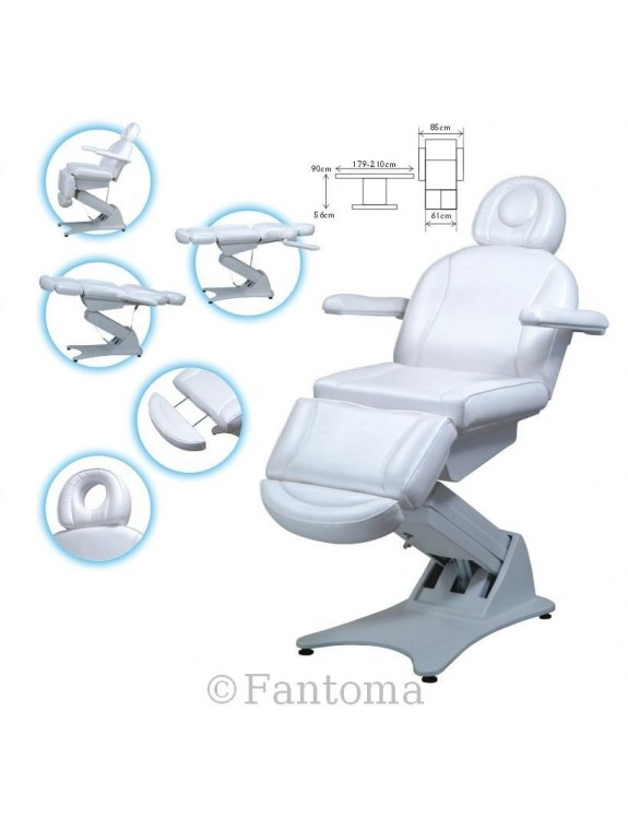 Fotel kosmetyczny,elektryczny PASCAL - 4silniki