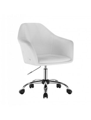 Blink Zet - Fotel fryzjerski biały z kólkami