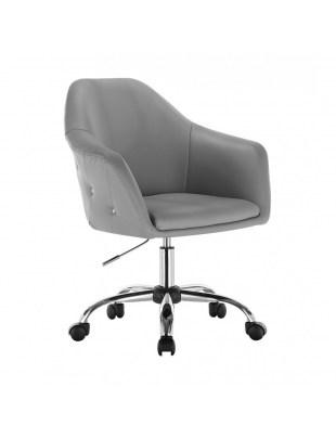 Blink Zet - Fotel fryzjerski szary z kólkami