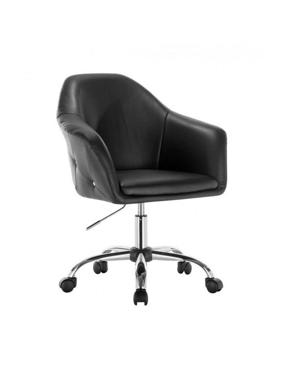 Blink Zet - Fotel fryzjerski czarny z kólkami