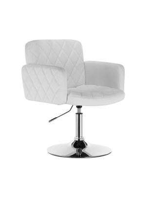 Peter - Fotel fryzjerski biały